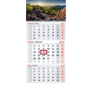 3-mesačný kalendár 2022 - HORY